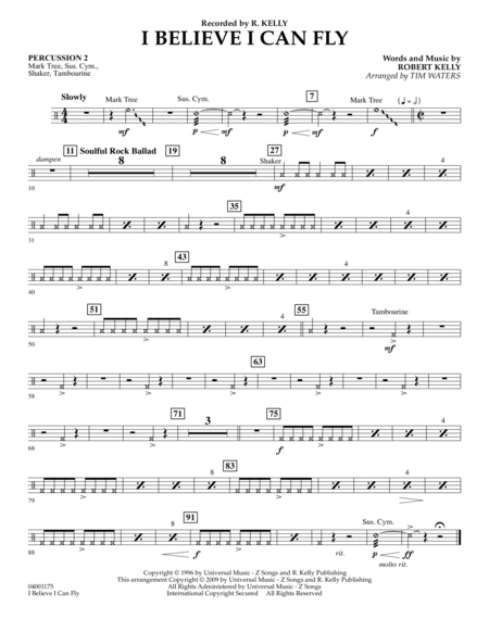 I Believe I Can Fly - Percussion 2