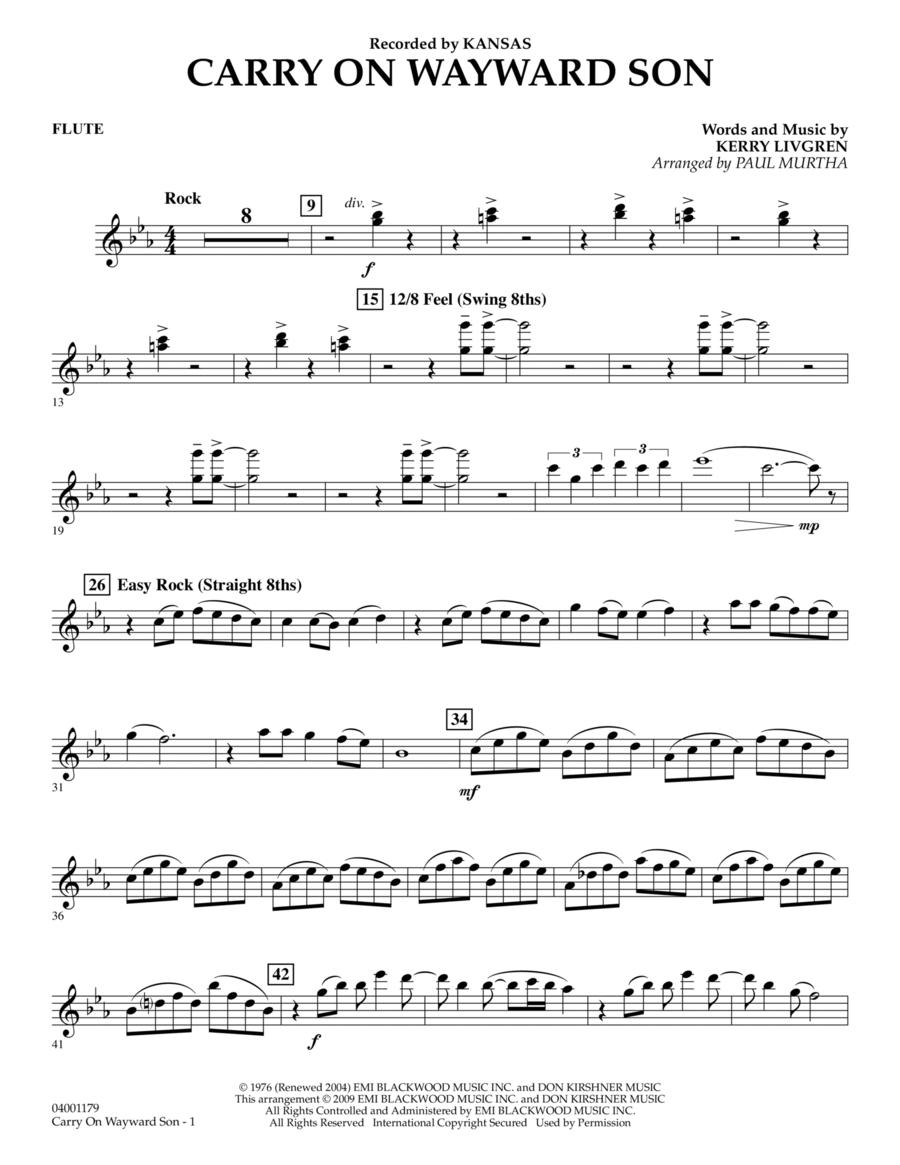Carry On Wayward Son - Flute