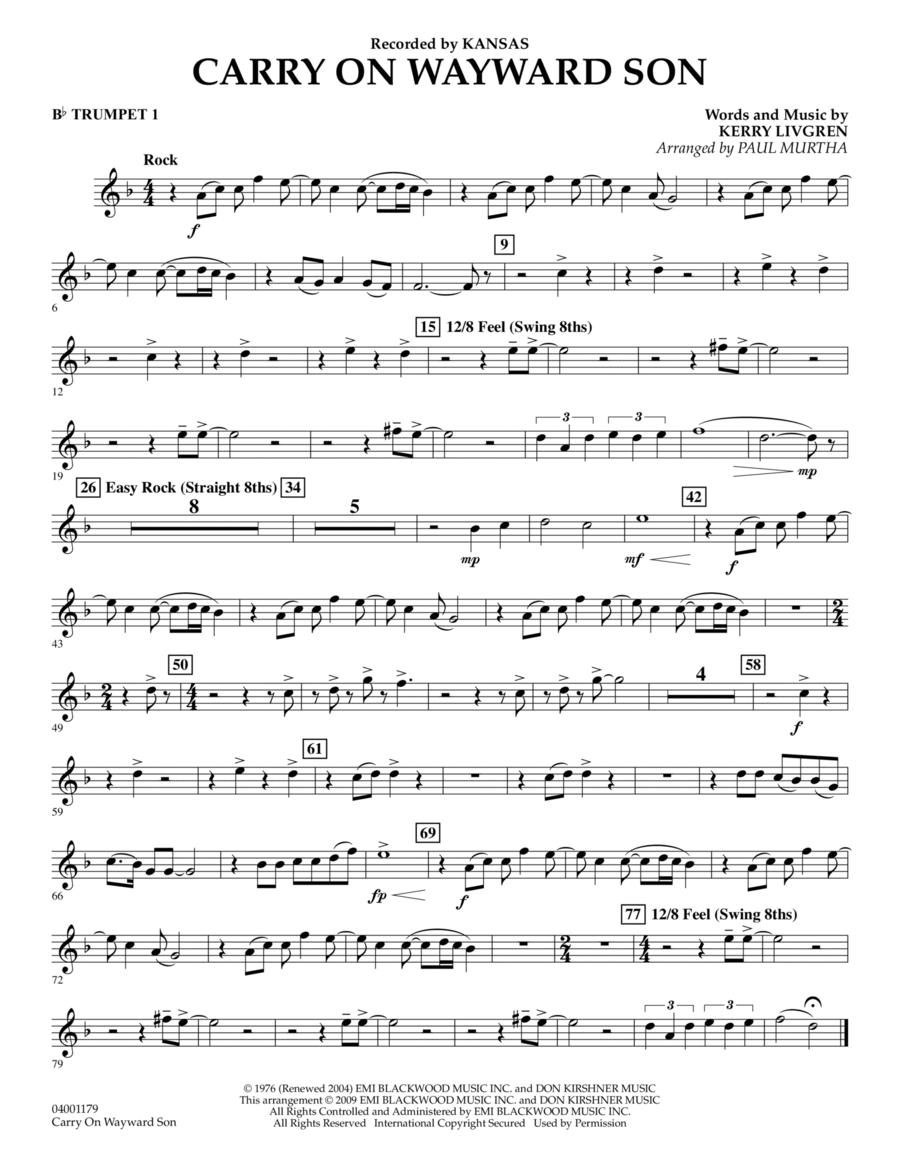 Carry On Wayward Son - Bb Trumpet 1