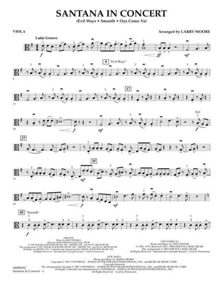 Santana in Concert - Viola