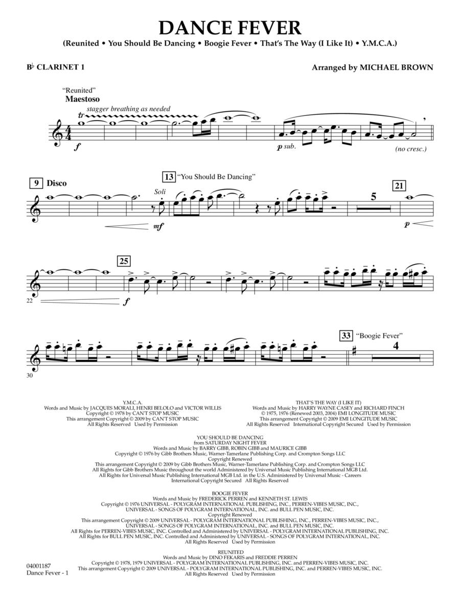 Dance Fever - Bb Clarinet 1