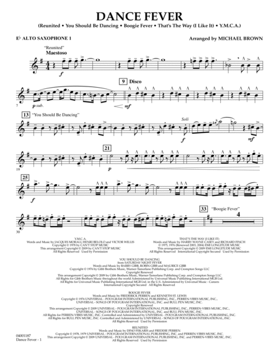 Dance Fever - Eb Alto Saxophone 1