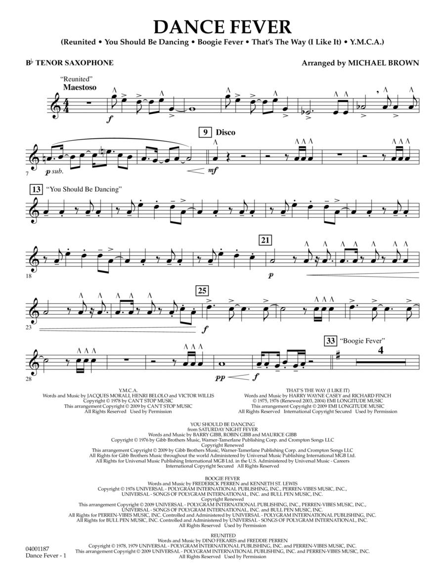 Dance Fever - Bb Tenor Saxophone