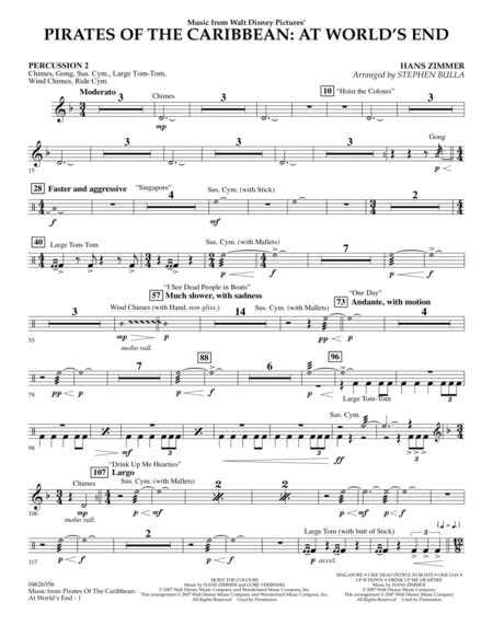 Music from Pirates of the Caribbean: At World's End - Percussion 2