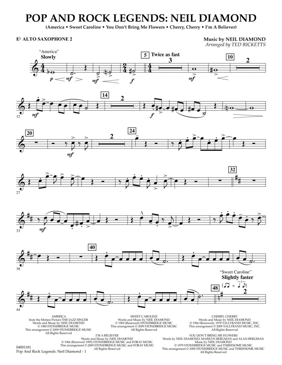 Pop and Rock Legends - Neil Diamond - Eb Alto Saxophone 2