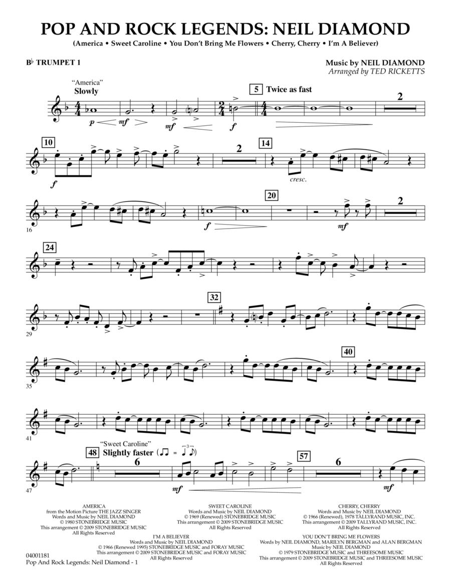 Pop and Rock Legends - Neil Diamond - Bb Trumpet 1