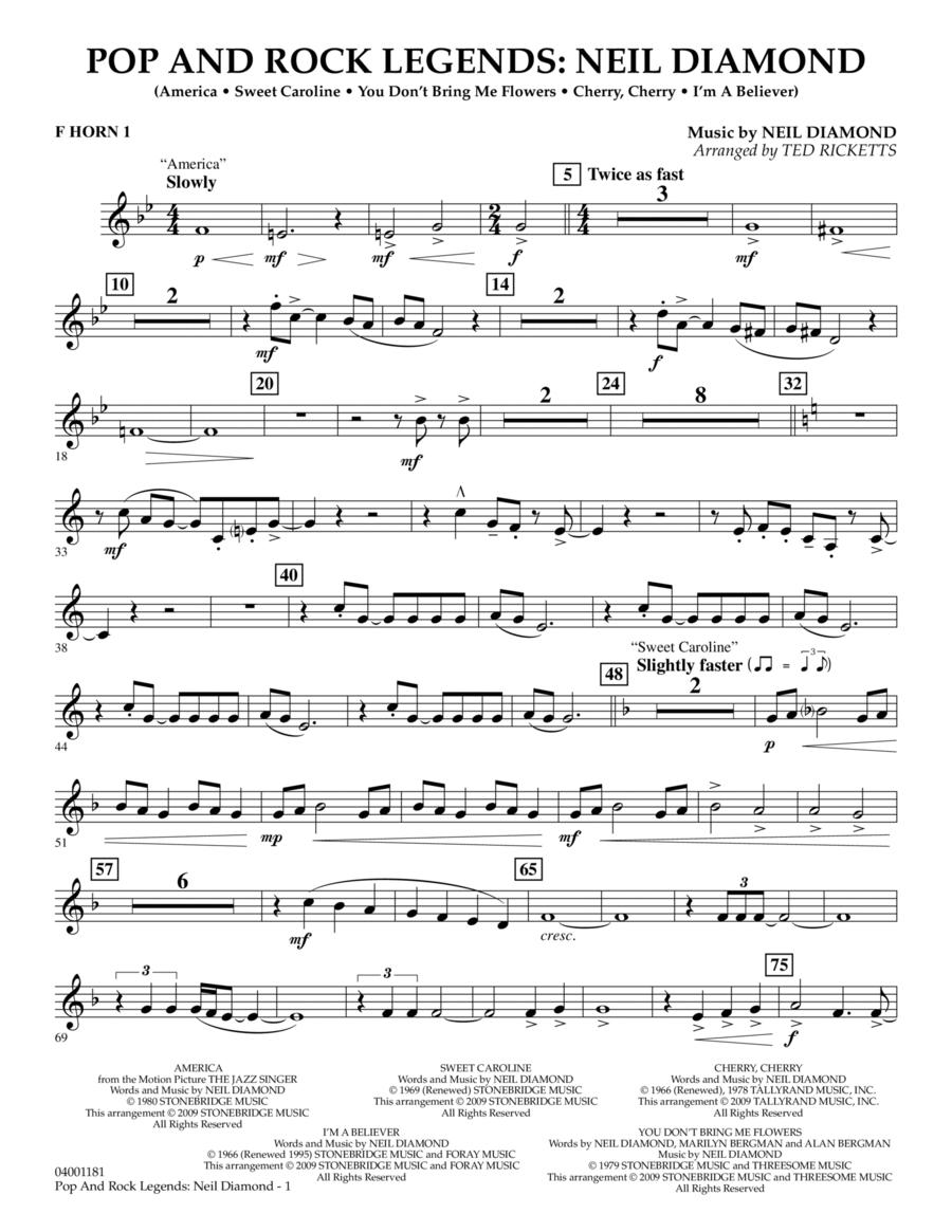 Pop and Rock Legends - Neil Diamond - F Horn 1