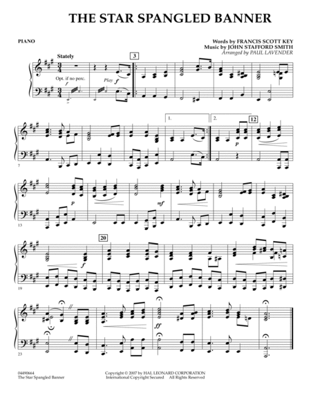 Star Spangled Banner - Piano