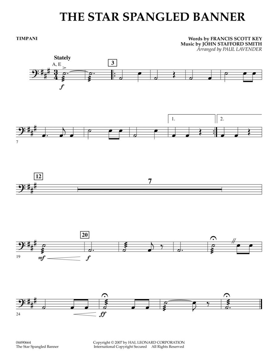 Star Spangled Banner - Timpani