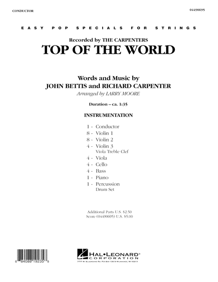 Top of the World - Full Score
