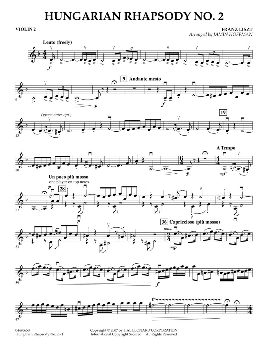 Hungarian Rhapsody No. 2 - Violin 2