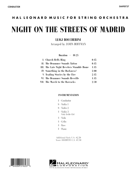 Night on the Streets of Madrid - Full Score