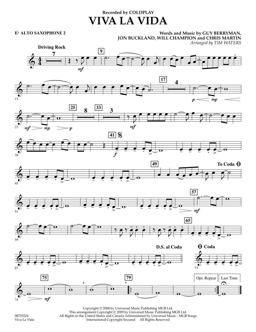 Viva La Vida - Eb Alto Saxophone 2