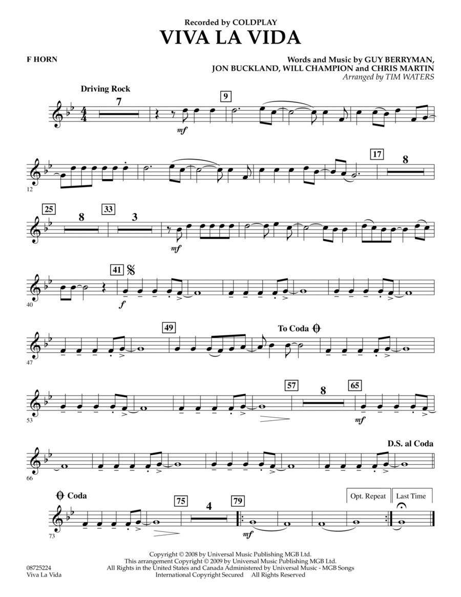 Viva La Vida - F Horn