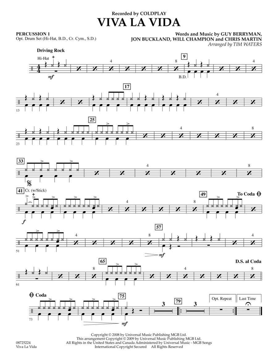 Viva La Vida - Percussion 1