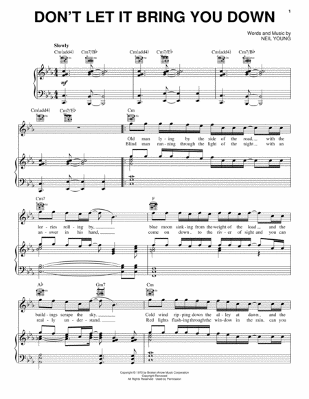 neil young old man sheet music pdf