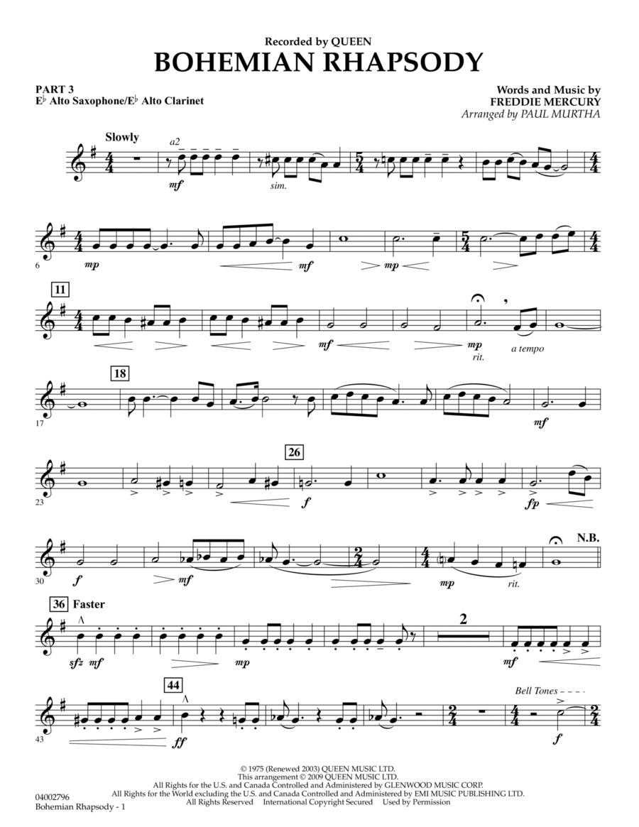 Bohemian Rhapsody - Pt.3 - Eb Alto Sax/Alto Clar.