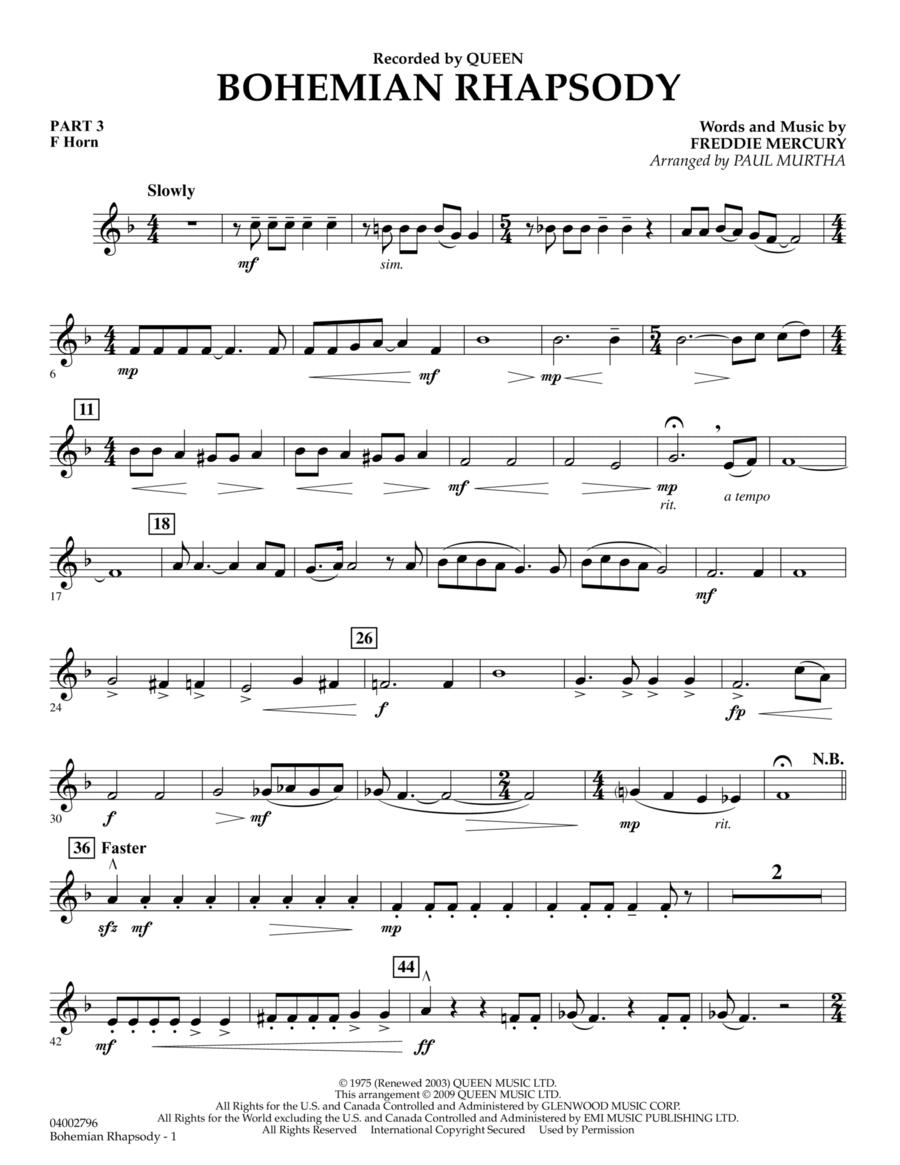 Bohemian Rhapsody - Pt.3 - F Horn