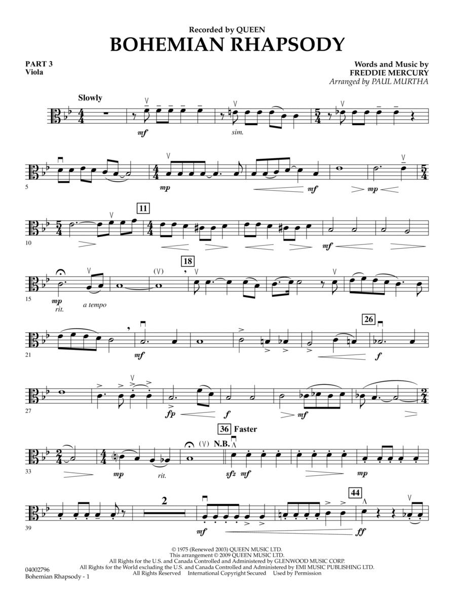 Piano bohemian rhapsody piano tabs : Bohemian Rhapsody - Pt.3 - Viola