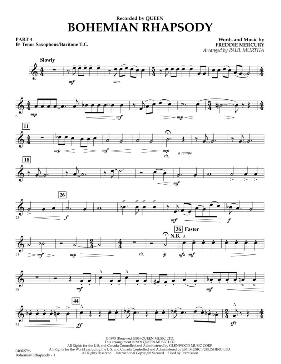 Bohemian Rhapsody - Pt.4 - Bb Tenor Sax/Bar. T.C.
