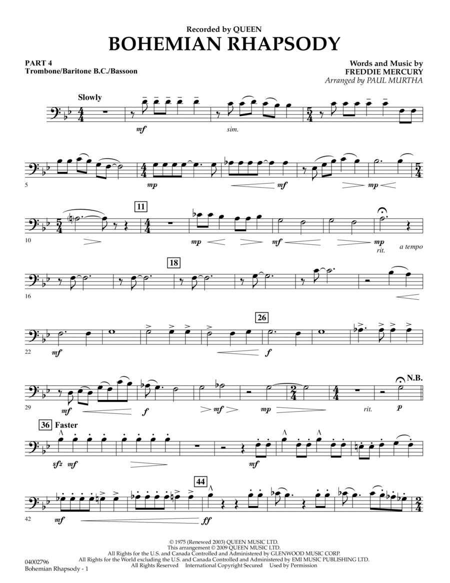 Bohemian Rhapsody - Pt.4 - Trombone/Bar. B.C./Bsn.