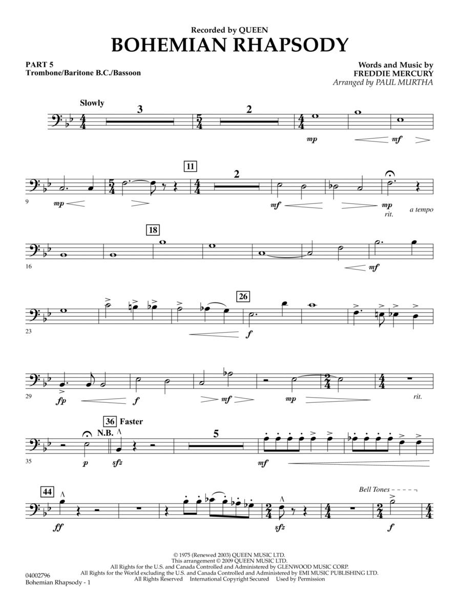 Bohemian Rhapsody - Pt.5 - Trombone/Bar. B.C./Bsn.