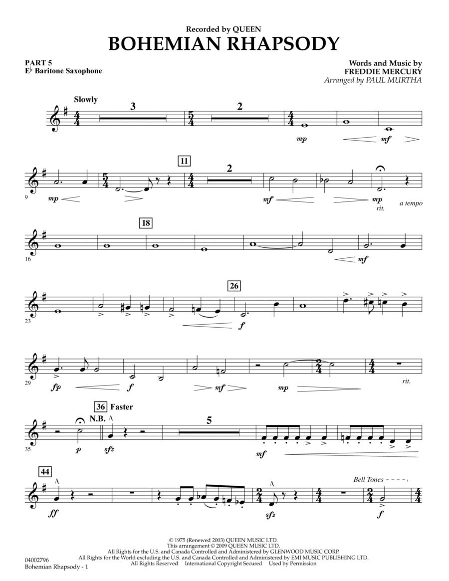 Bohemian Rhapsody - Pt.5 - Eb Baritone Saxophone
