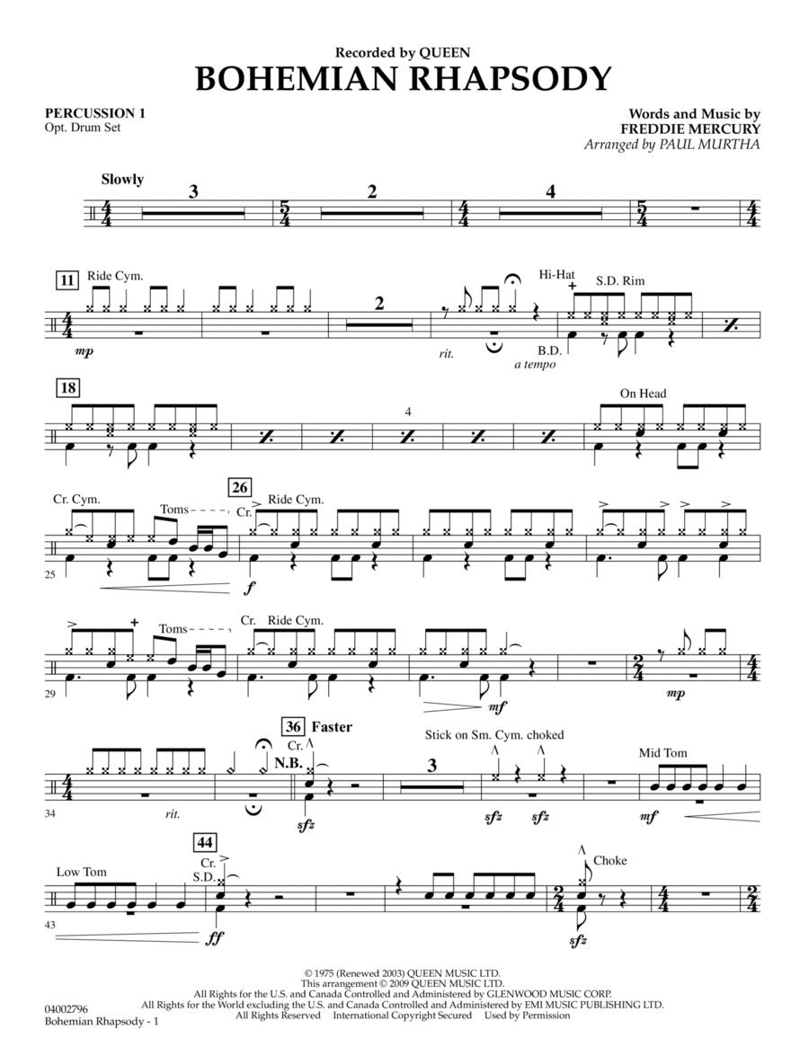 Bohemian Rhapsody - Percussion 1