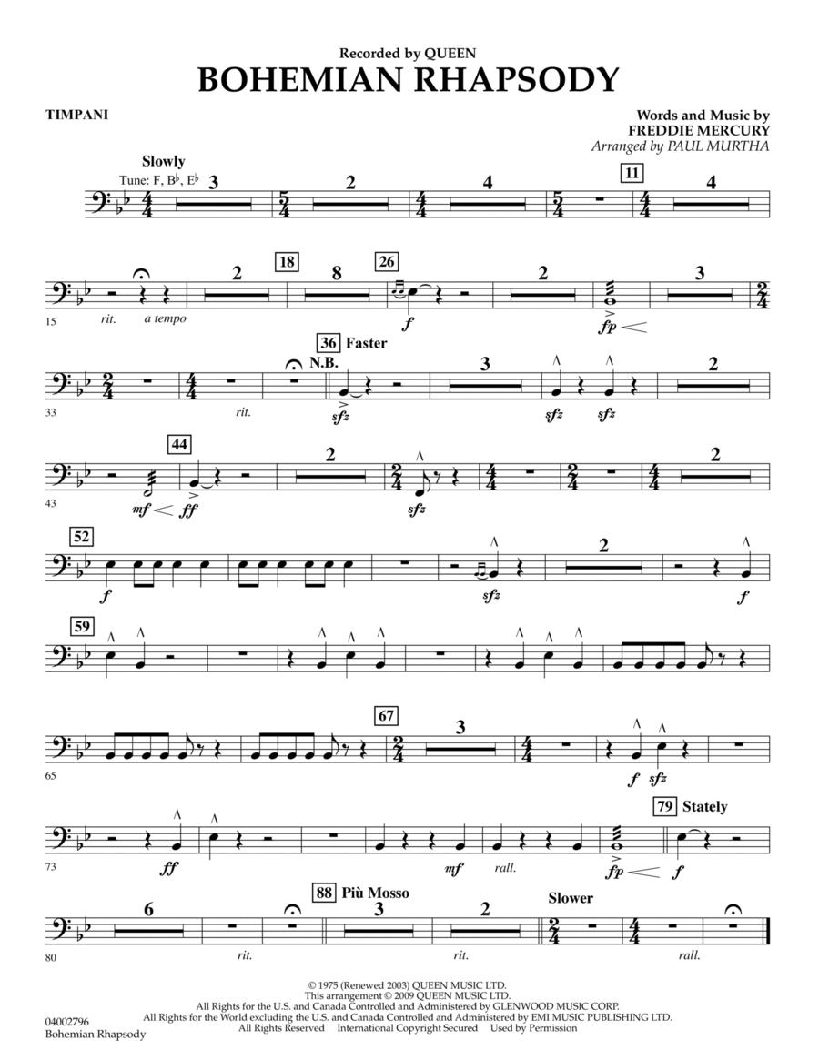 Bohemian Rhapsody - Timpani