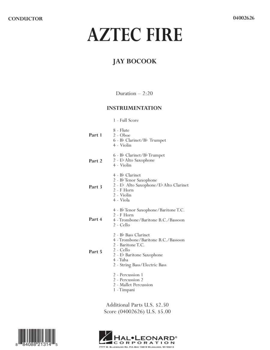 Aztec Fire - Conductor Score (Full Score)