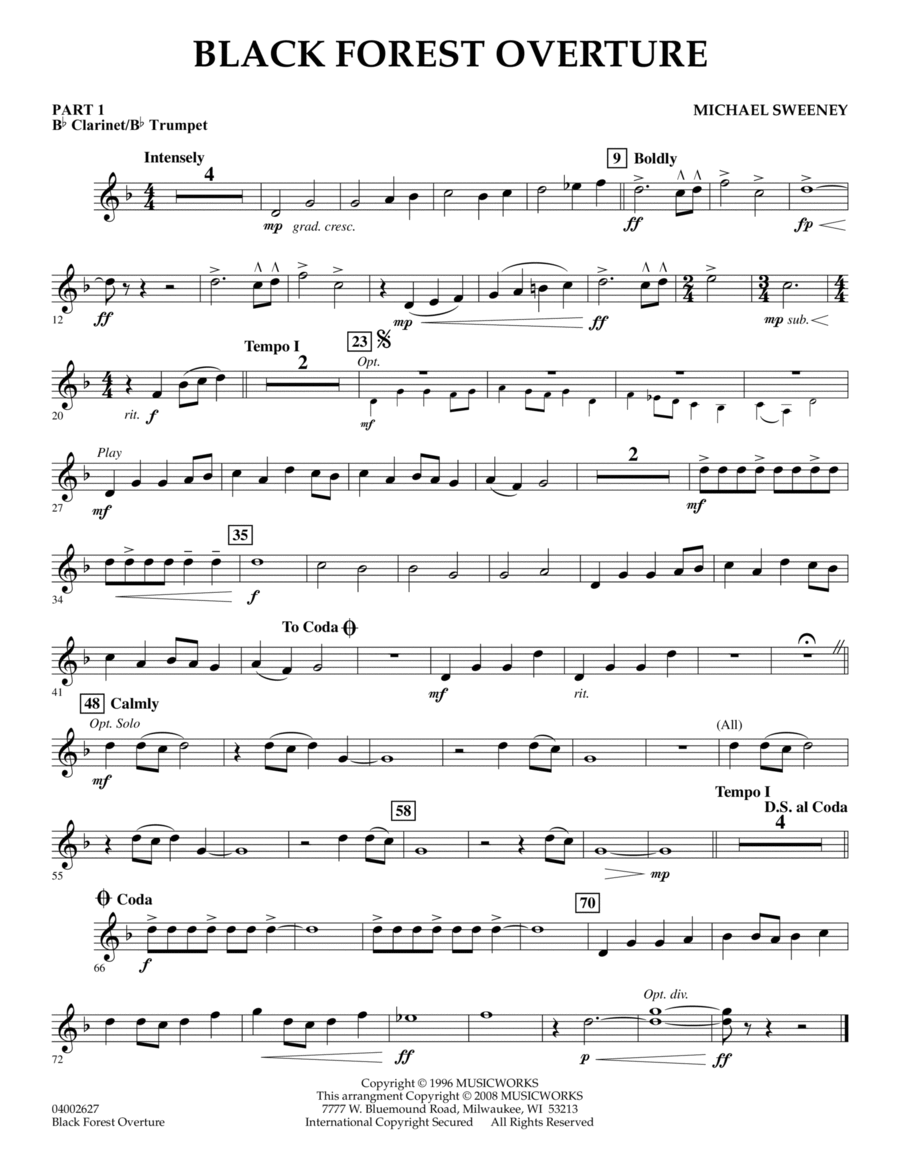 Black Forest Overture - Pt.1 - Bb Clarinet/Bb Trumpet