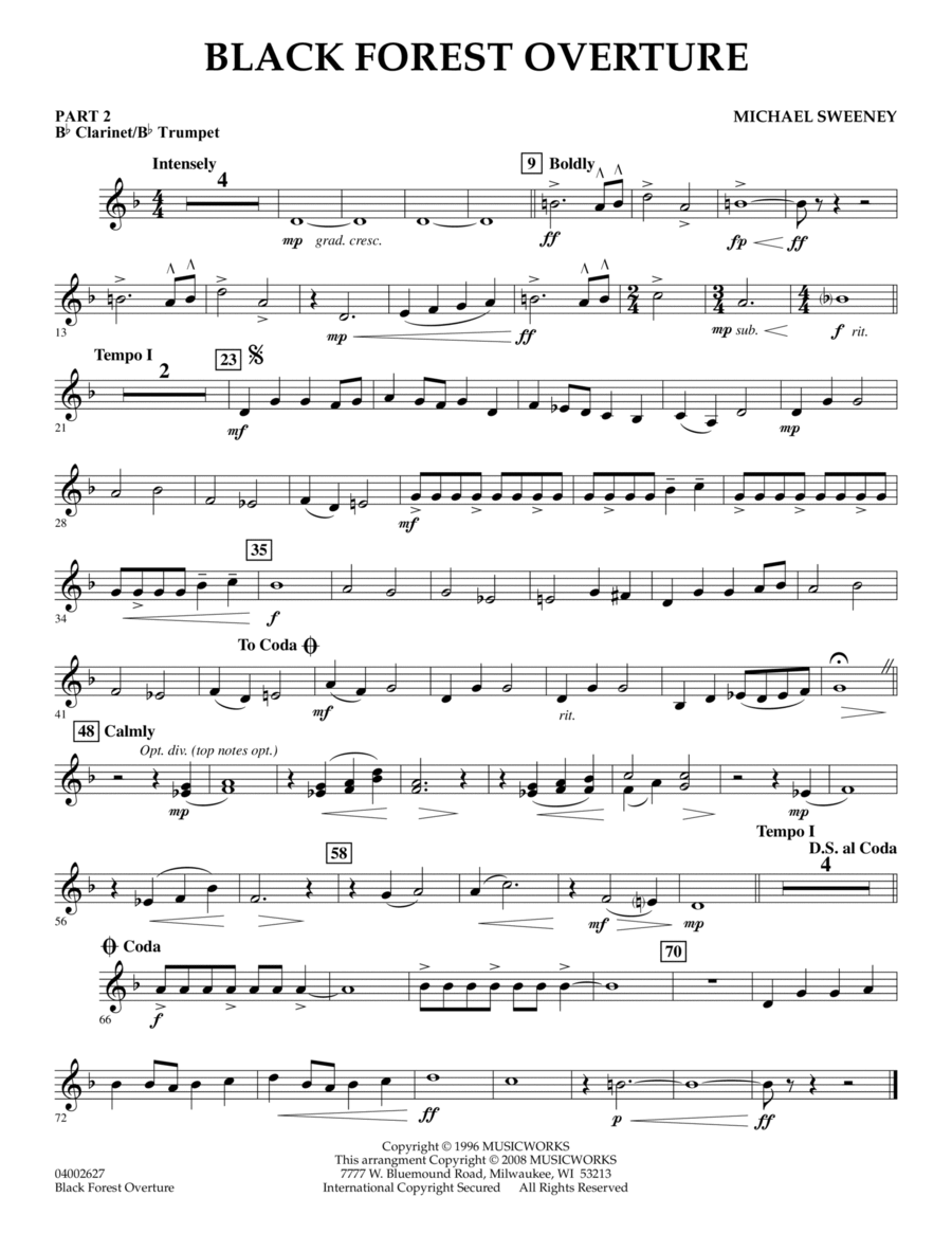 Black Forest Overture - Pt.2 - Bb Clarinet/Bb Trumpet