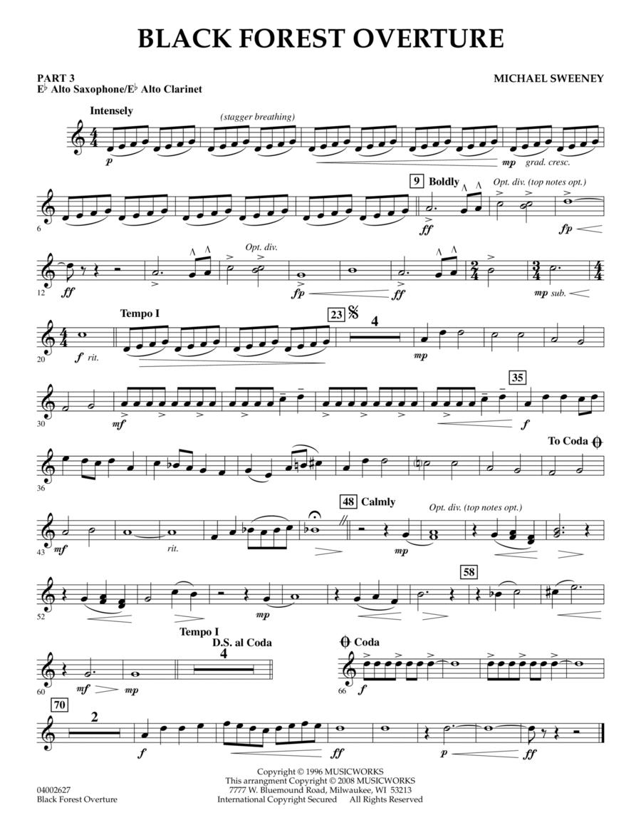 Black Forest Overture - Pt.3 - Eb Alto Sax/Alto Clar.