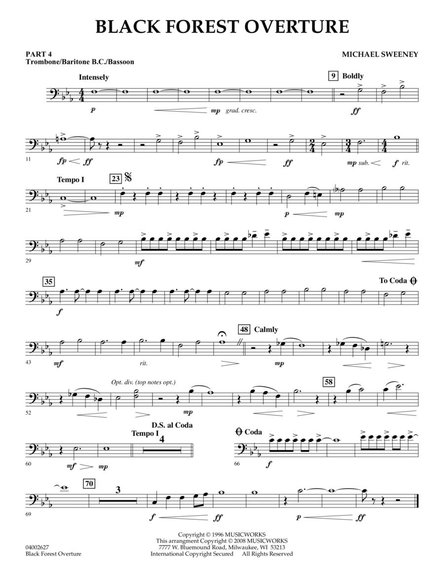 Black Forest Overture - Pt.4 - Trombone/Bar. B.C./Bsn.