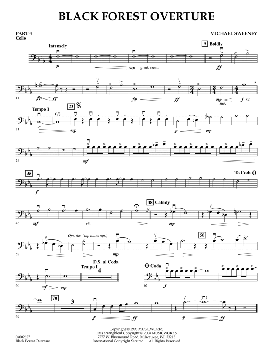 Black Forest Overture - Pt.4 - Cello