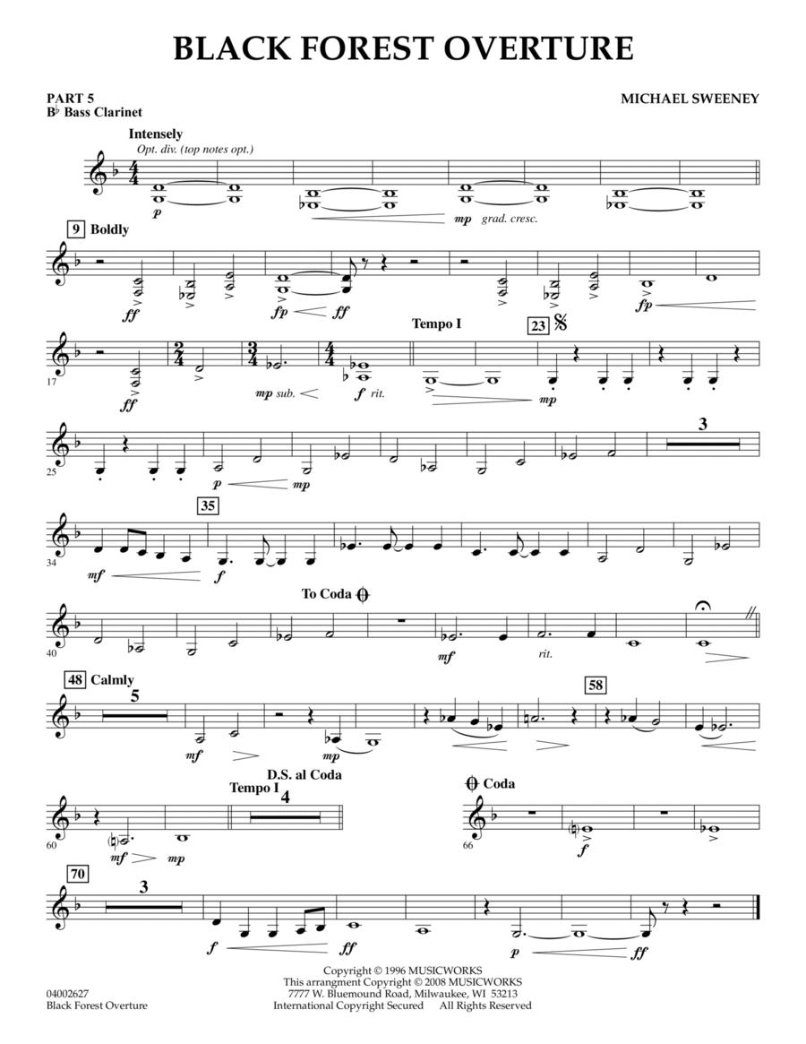 Black Forest Overture - Pt.5 - Bb Bass Clarinet