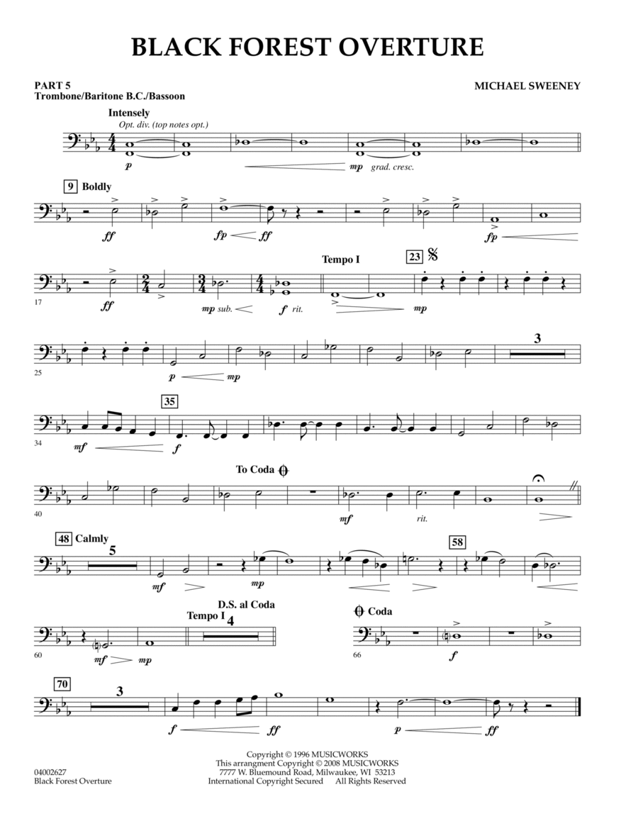 Black Forest Overture - Pt.5 - Trombone/Bar. B.C./Bsn.