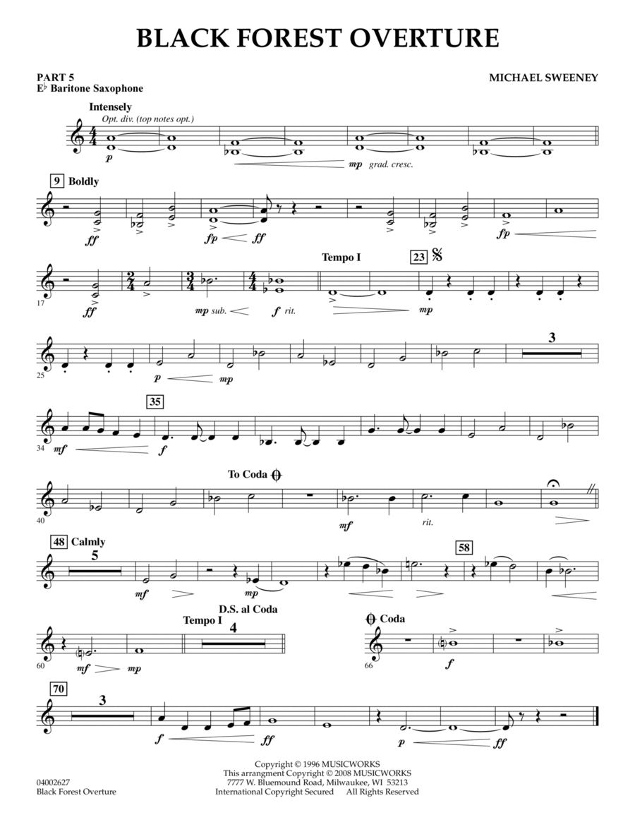 Black Forest Overture - Pt.5 - Eb Baritone Saxophone