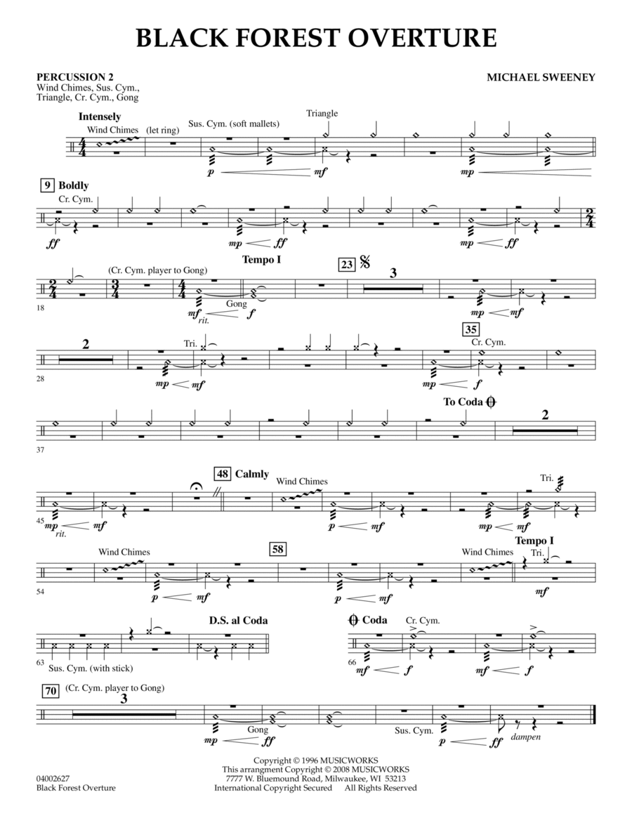 Black Forest Overture - Percussion 2