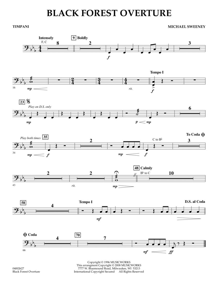 Black Forest Overture - Timpani