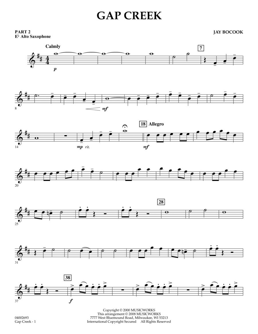 Gap Creek - Pt.2 - Eb Alto Saxophone