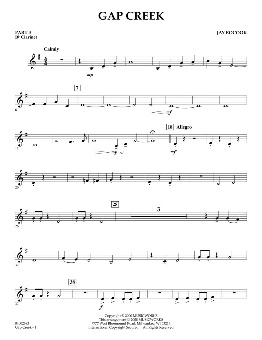 Gap Creek - Pt.3 - Bb Clarinet