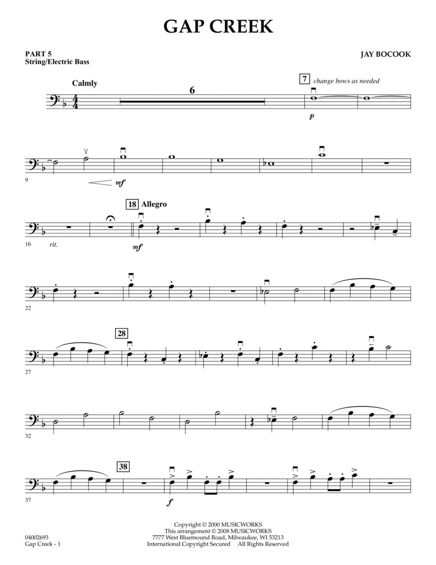 Gap Creek - Pt.5 - String/Electric Bass