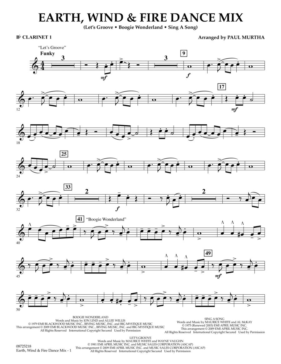 Earth, Wind & Fire Dance Mix - Bb Clarinet 1