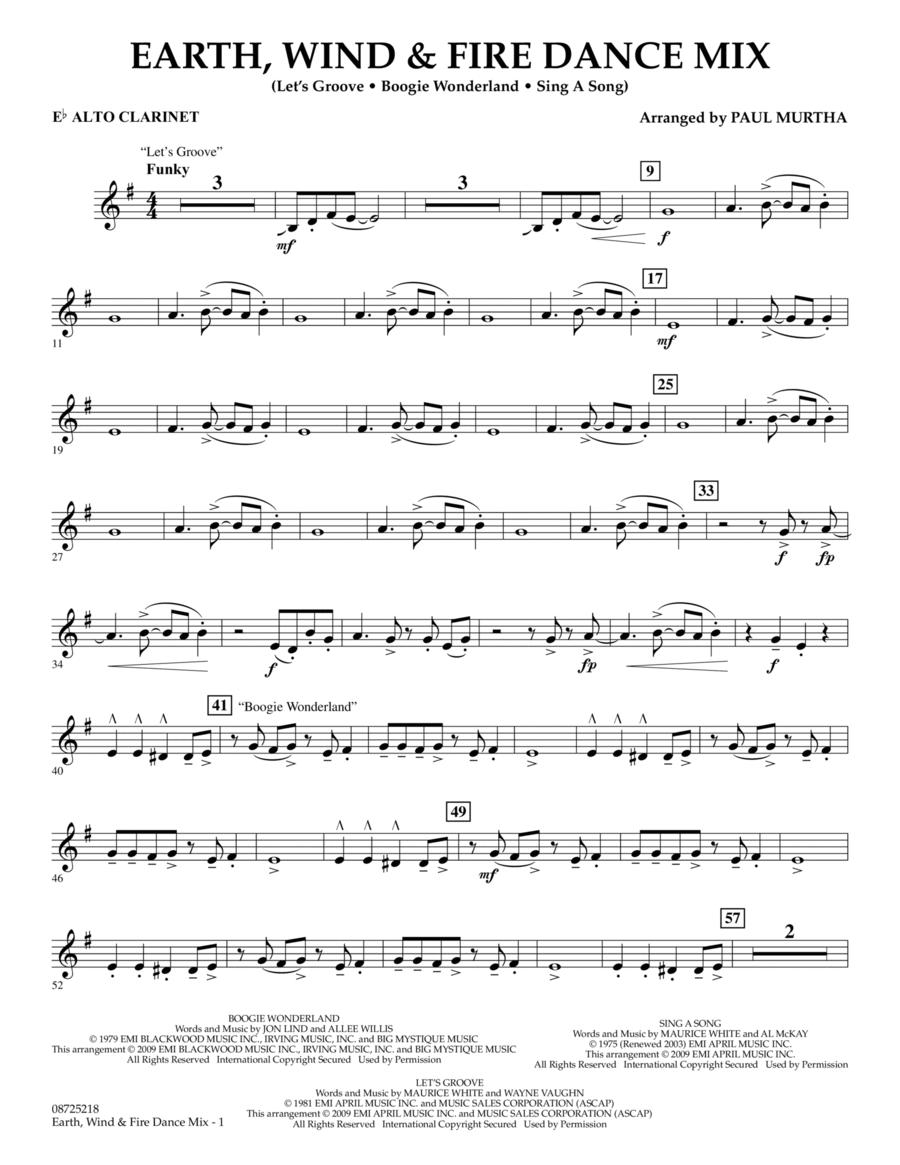 Earth, Wind & Fire Dance Mix - Eb Alto Clarinet