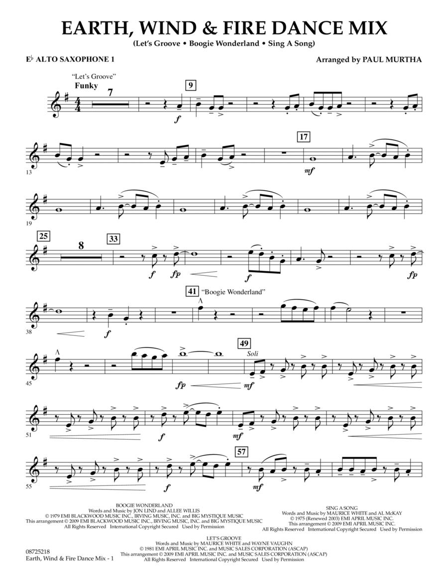 Earth, Wind & Fire Dance Mix - Eb Alto Saxophone 1