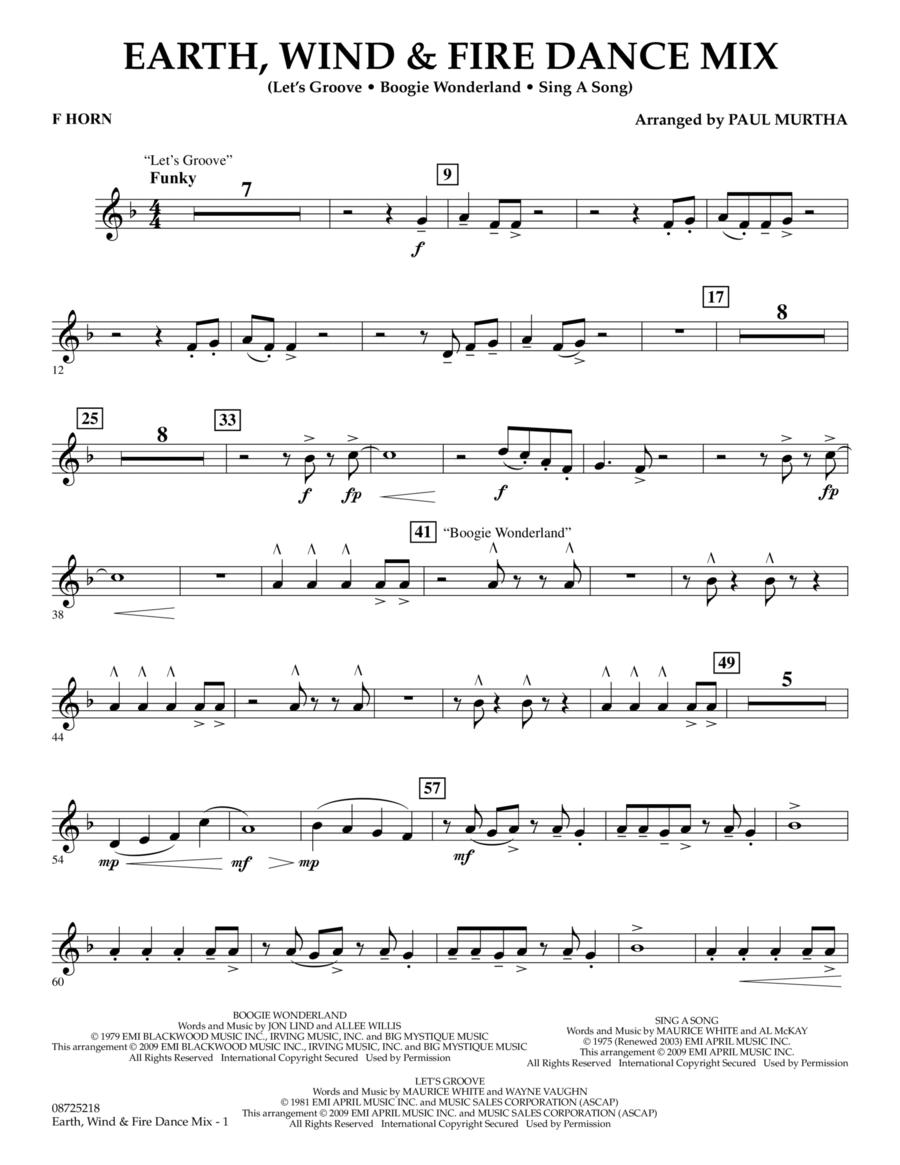 Earth, Wind & Fire Dance Mix - F Horn