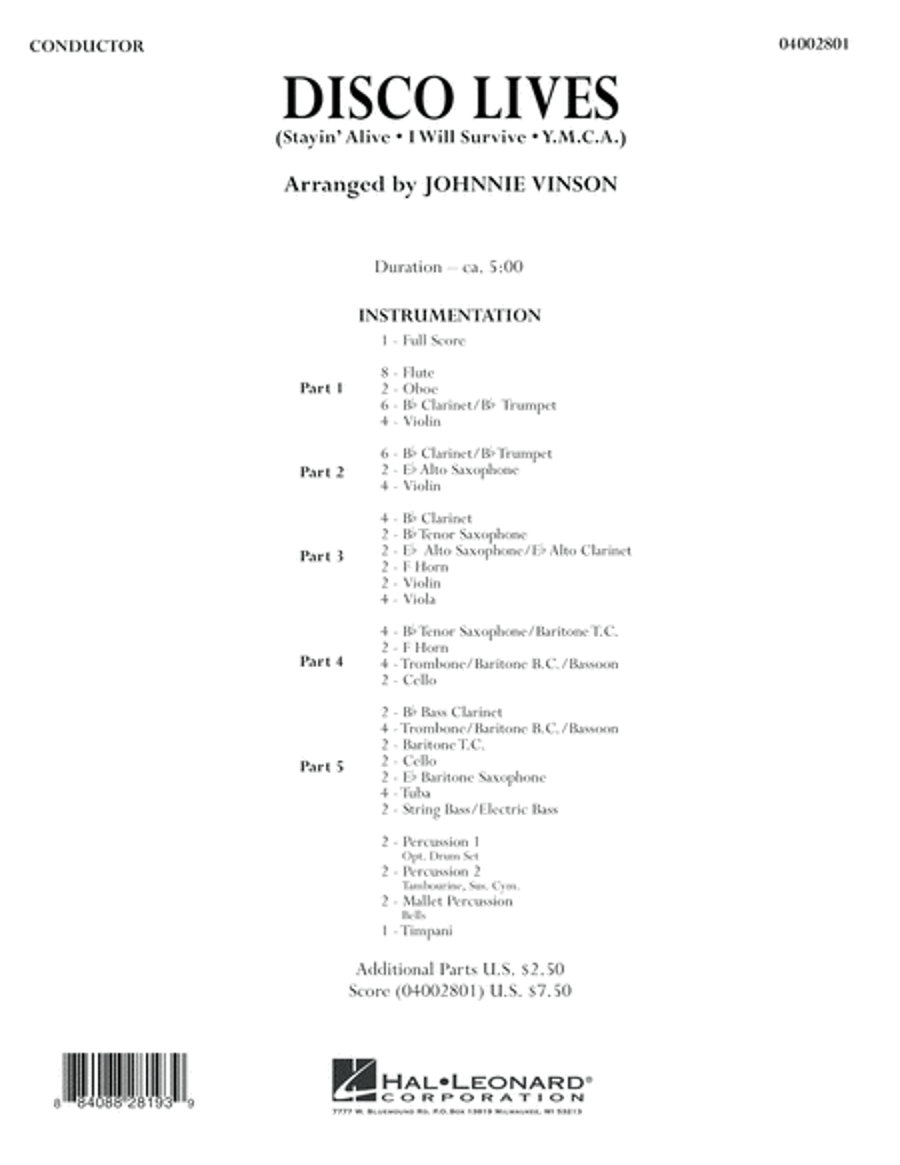 Disco Lives - Conductor Score (Full Score)