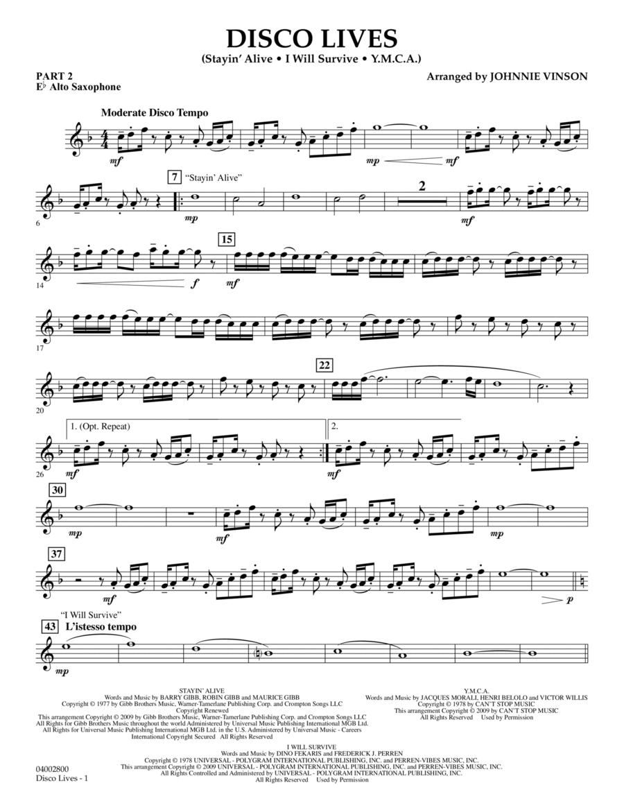 Disco Lives - Pt.2 - Eb Alto Saxophone