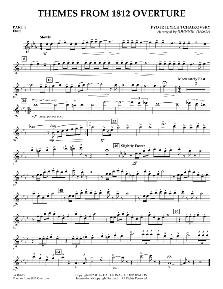 Themes from 1812 Overture - Pt.1 - Flute